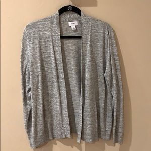 Old Navy Open Front Gray Cardigan, xl
